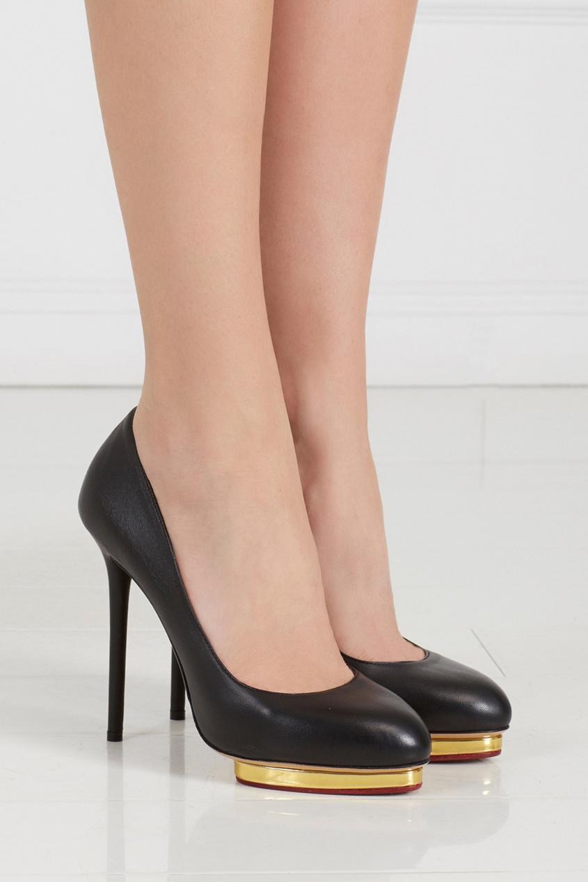 где купить  Charlotte Olympia Кожаные туфли Dotty  по лучшей цене