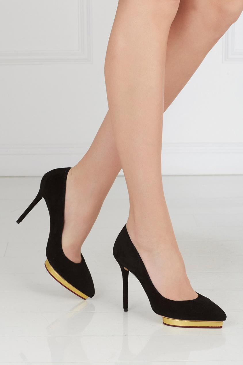Замшевые туфли Debbie Gold Platform