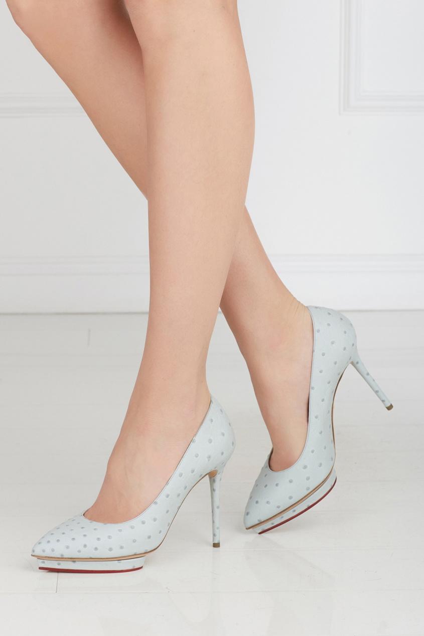 Туфли из страусиной кожи Debbie