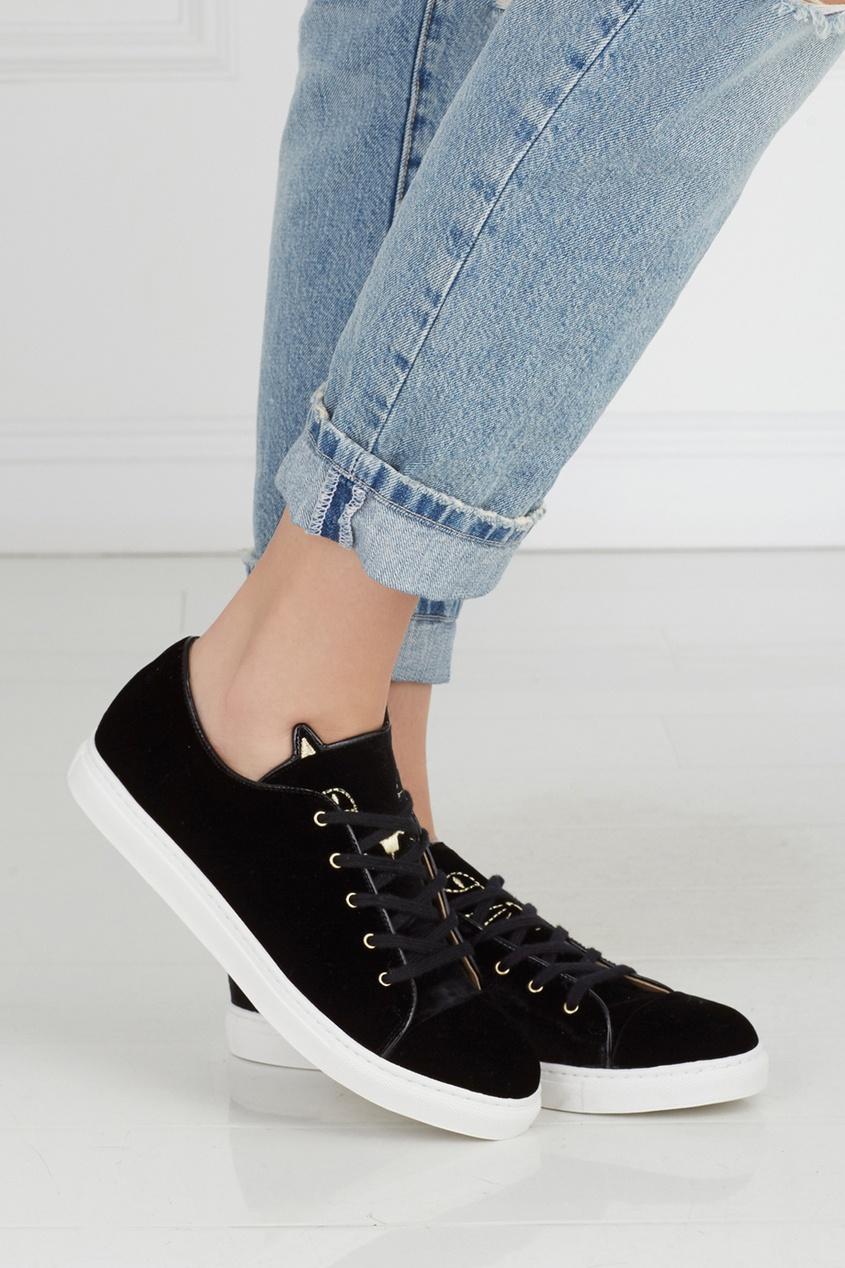 Бархатные кеды Purrrfect Sneakers