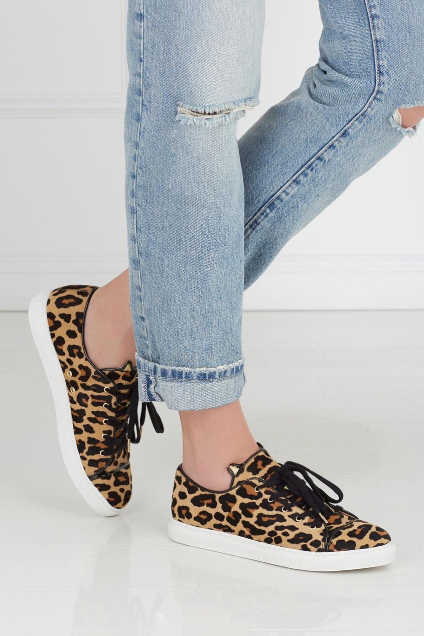Charlotte Olympia Кеды из кожи пони Rurrrfect Sneakers olympia le tan джинсовые брюки