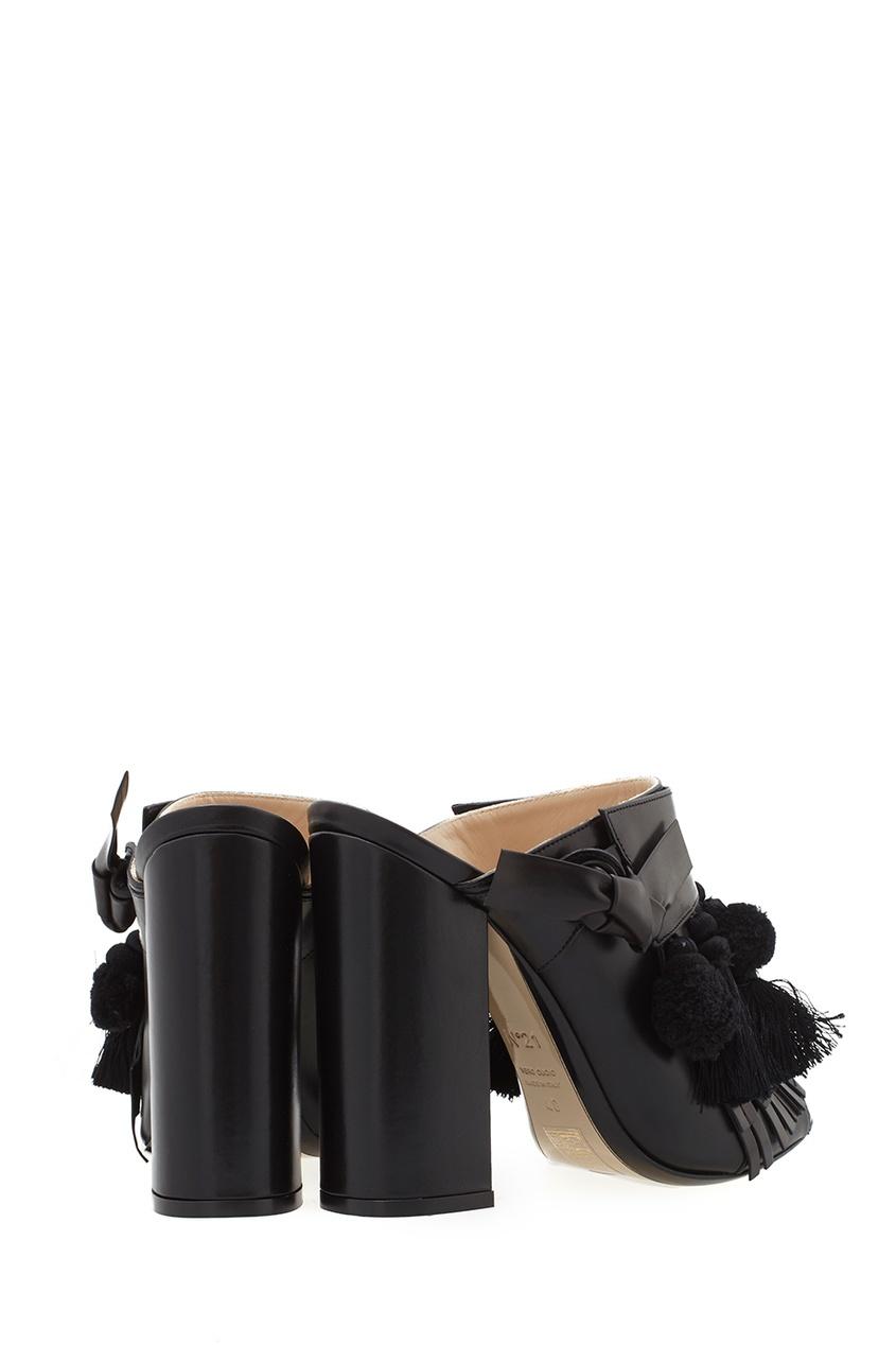 Кожаные туфли-мюли Althea