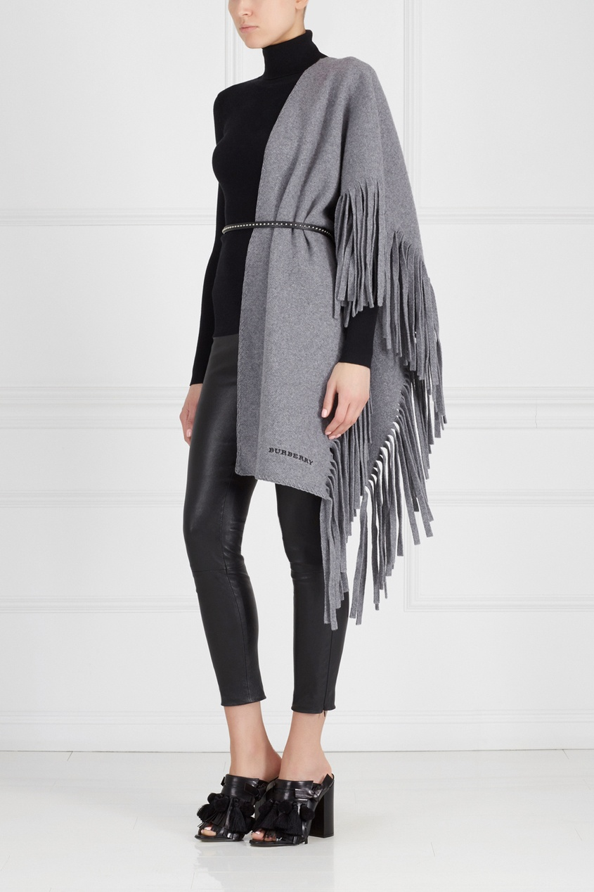 Шерстяной шарф Solid Felted Fringe Knitted Scarf от AIZEL