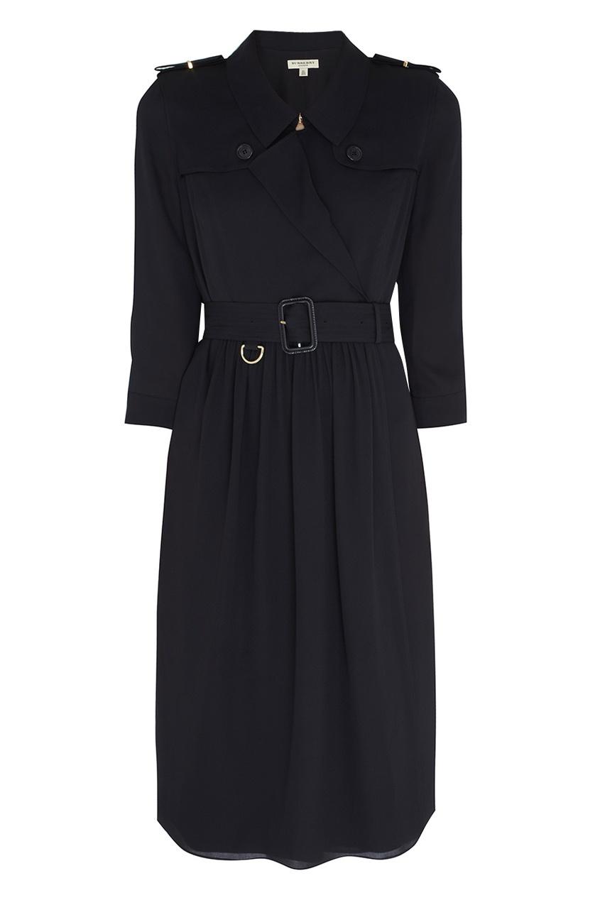 Burberry Шелковое платье Agatha