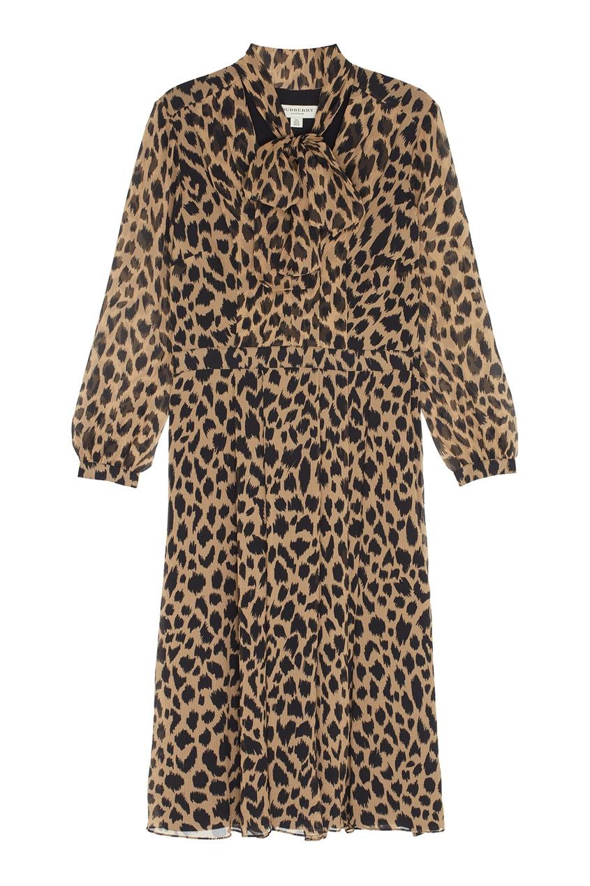 Burberry Шелковое платье Liv