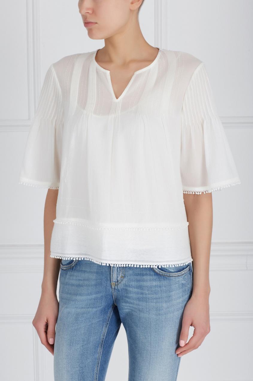 Хлопковая блузка от AIZEL