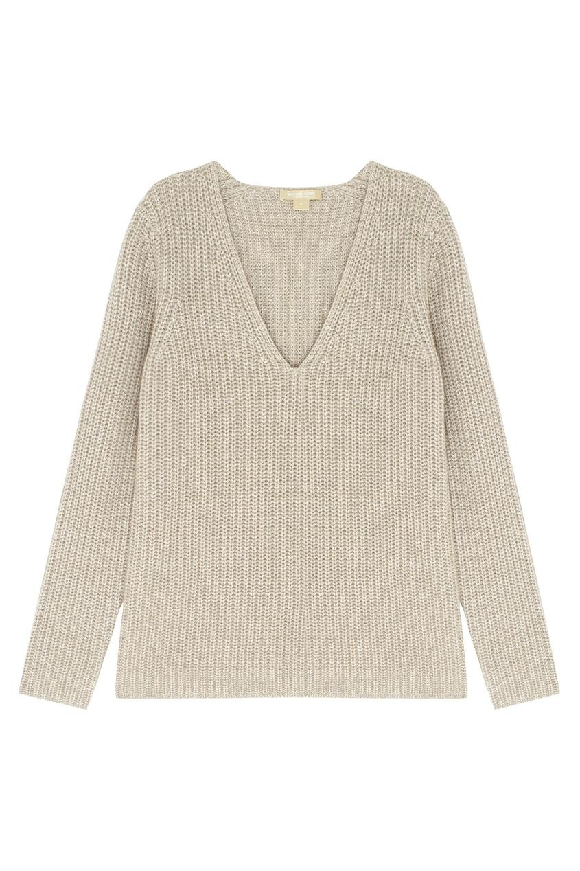 Пуловер из кашемира и льна