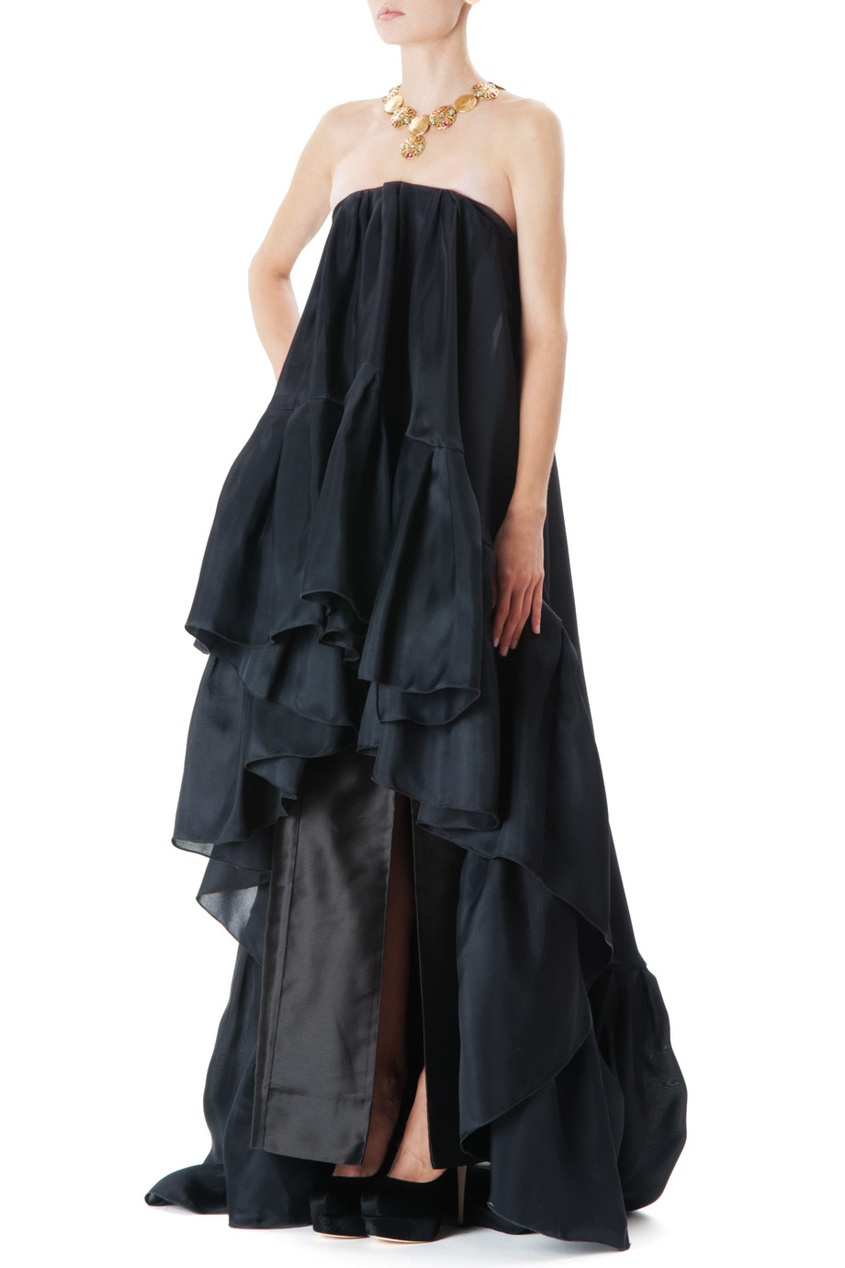 Черное шелковое платье LUBLU Kira Plastinina