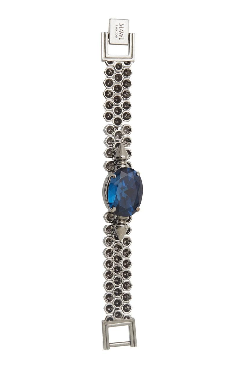 Фото 2 - Браслет с кристаллами от Mawi синего цвета