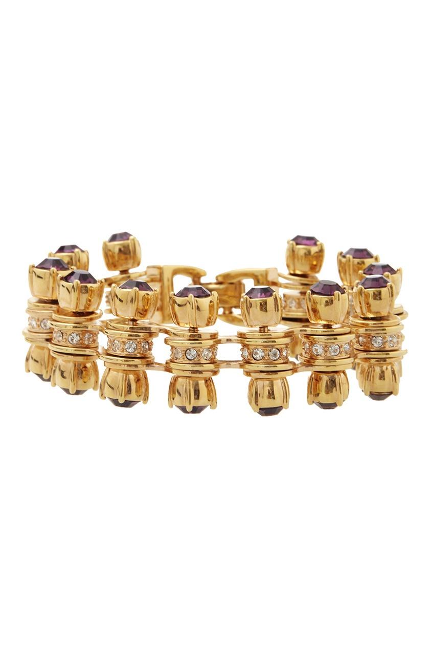 Фото 2 - Браслет с кристаллами от Mawi золотого цвета
