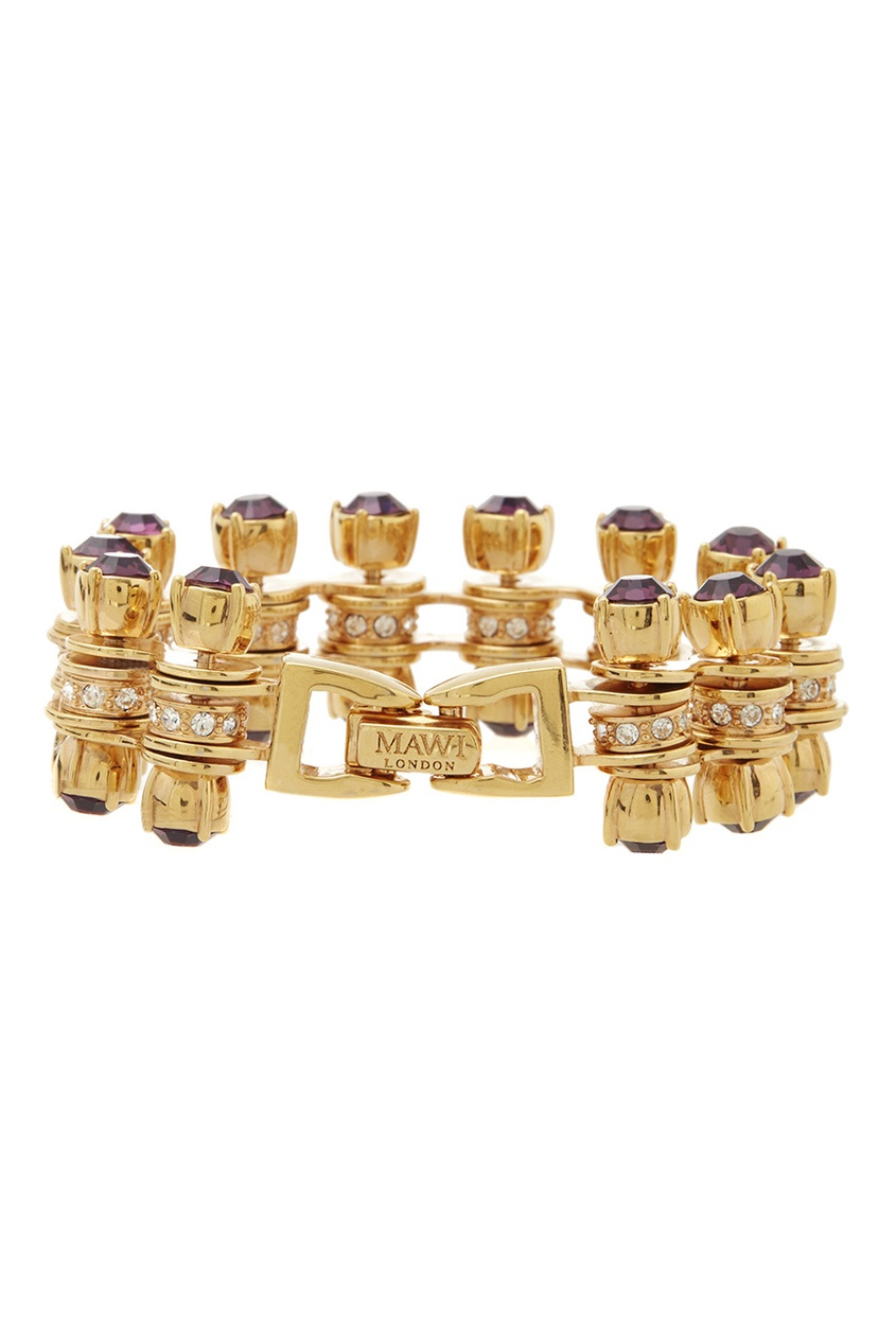 Фото 3 - Браслет с кристаллами от Mawi золотого цвета