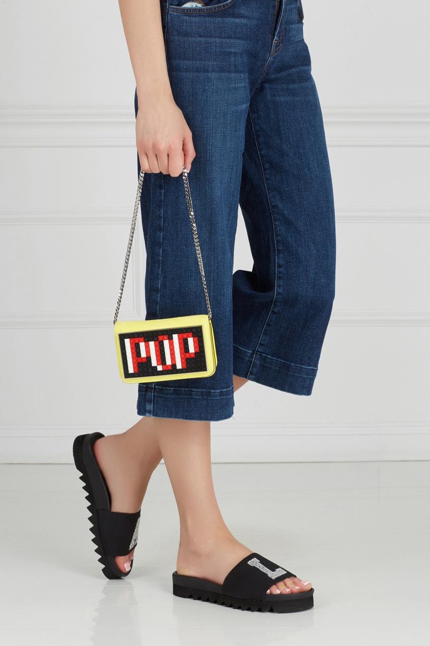 Кожаная сумка Micro Janis Pop