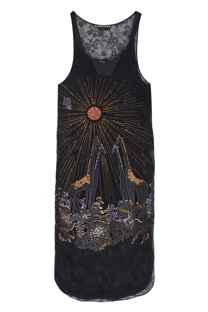 Rochas Платье с вышивкой