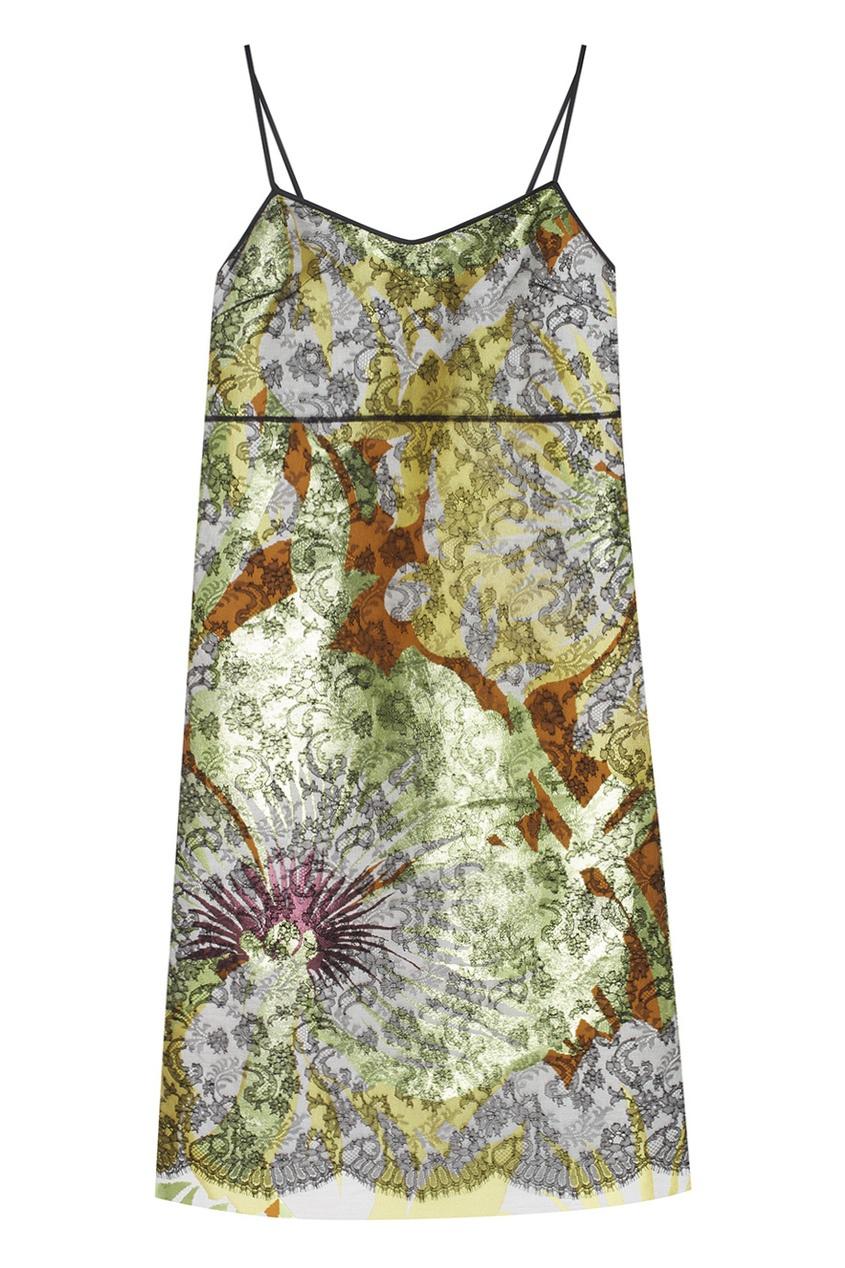 Rochas Платье из хлопка и шелка