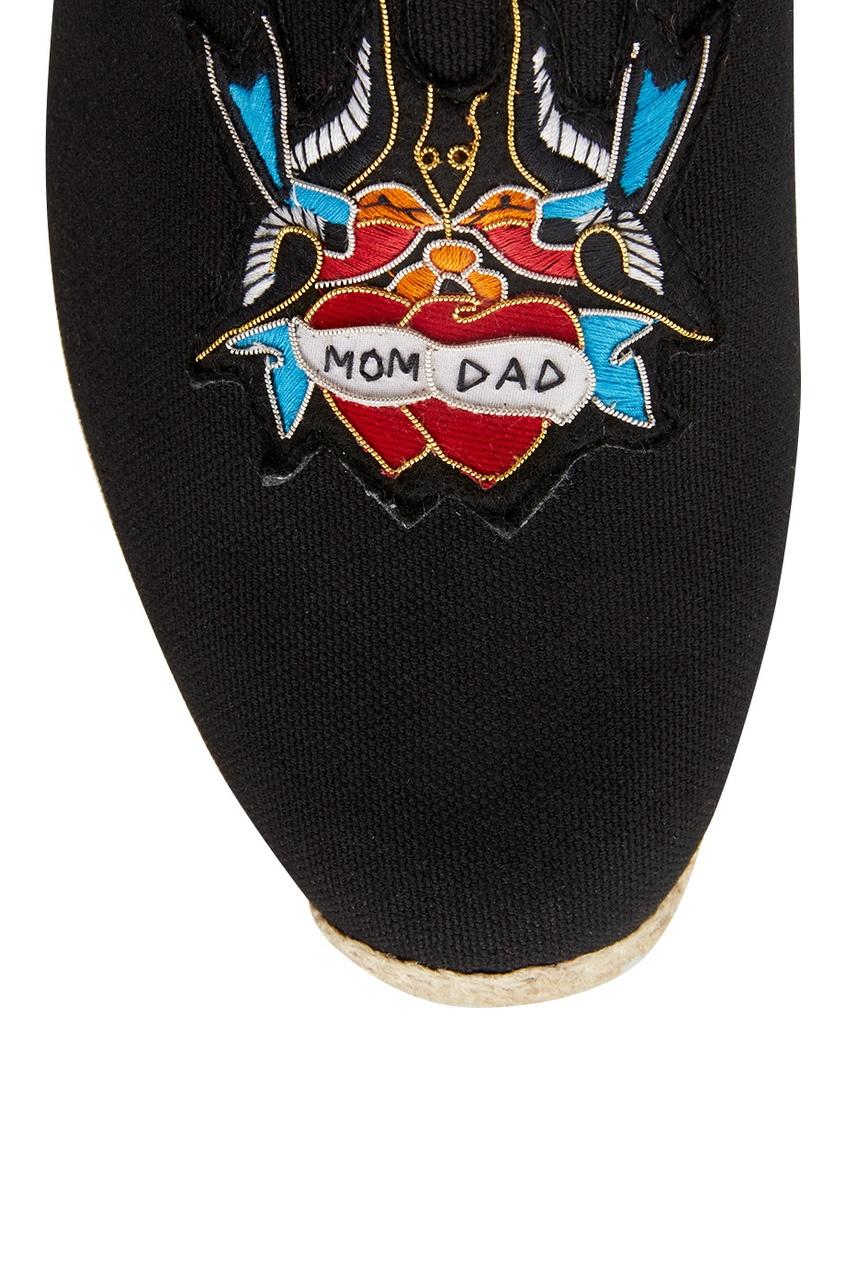 Хлопковые эспадрильи Mom and Dad Flat Olona Fabric