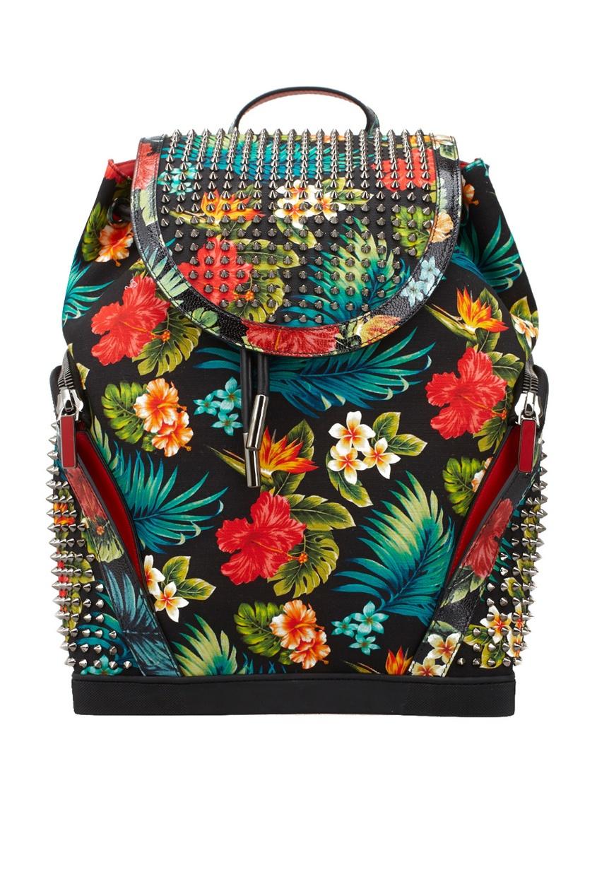 Рюкзак из хлопка и кожи Explorafunk Toile Hawai