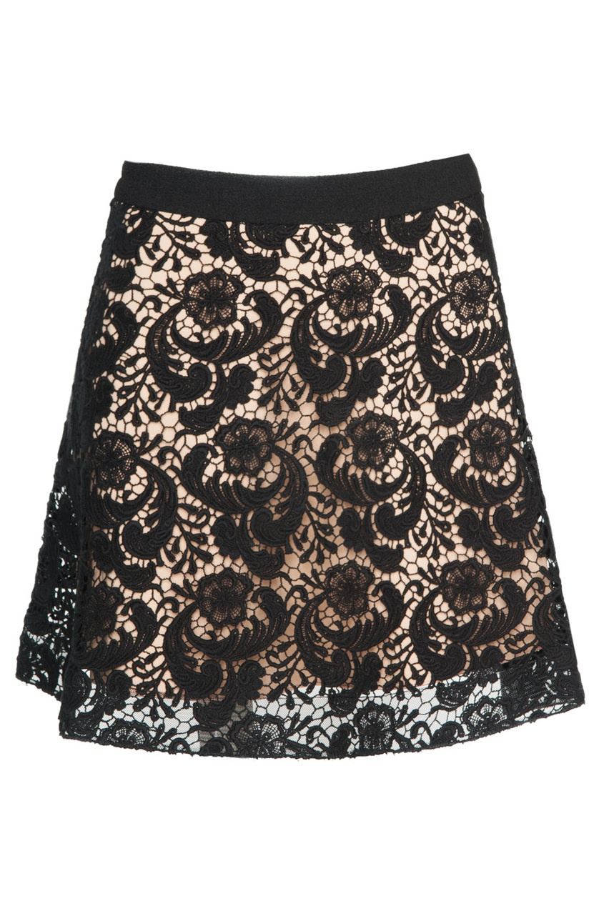 Кружевная юбка-мини из хлопка LUBLU Kira Plastinina
