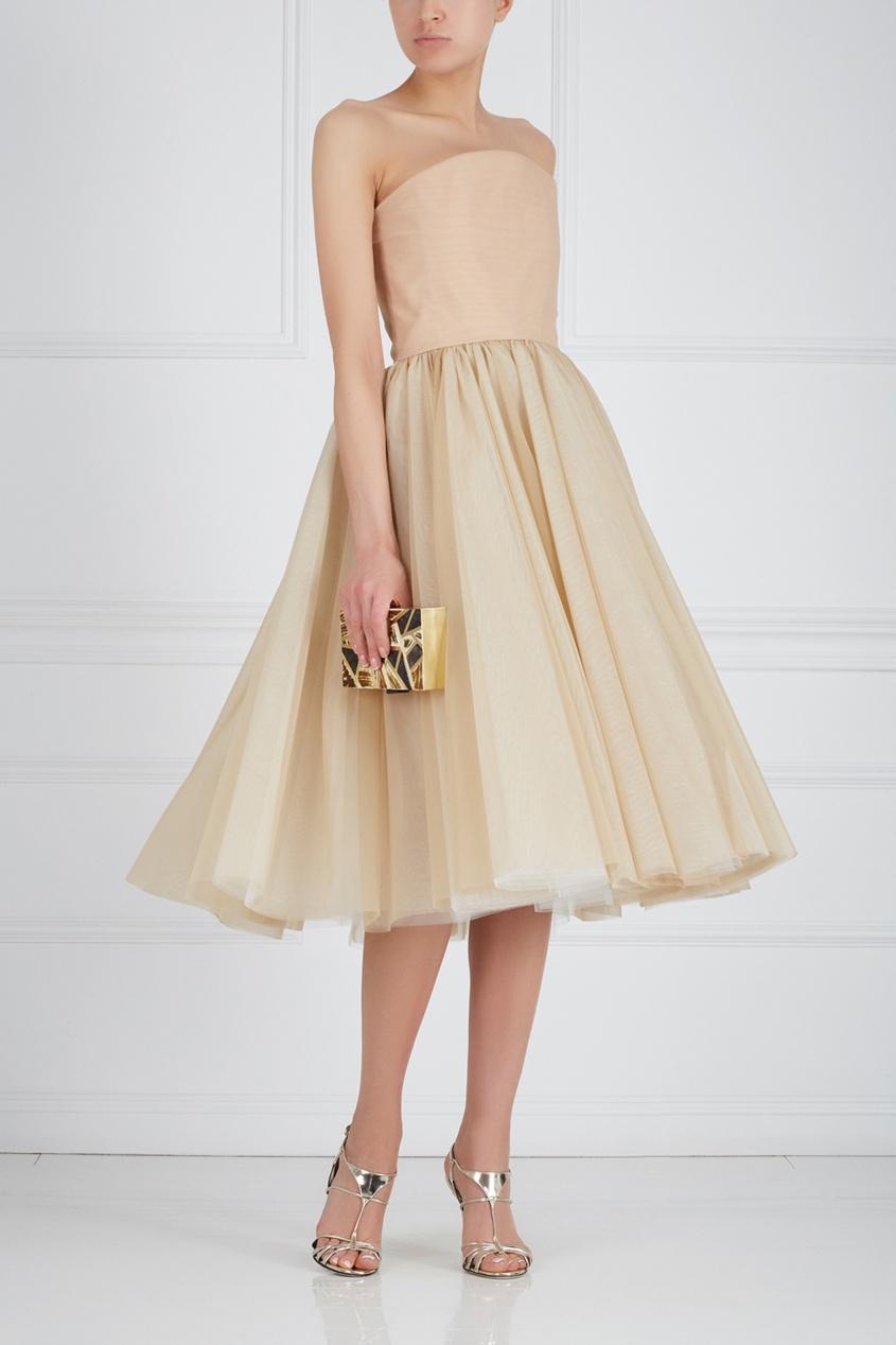 Шелковое платье-бюстье
