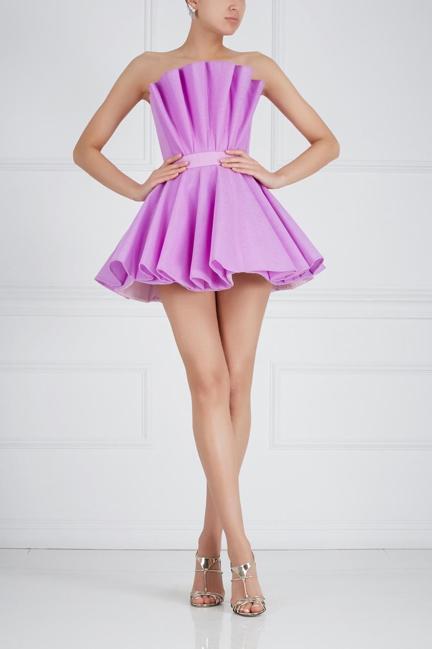 Однотонное платье-бюстье