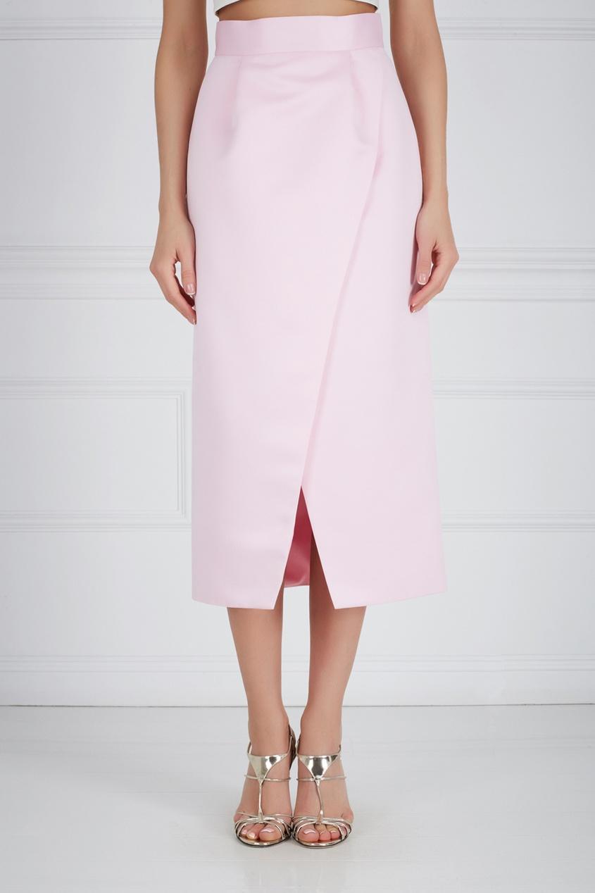 Шелковая юбка-карандаш