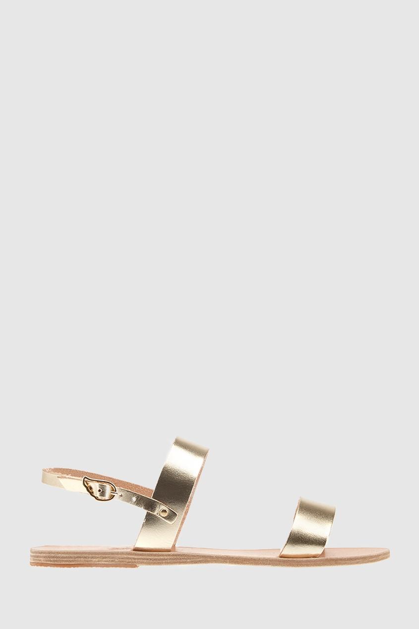 Сандалии из металлизированной кожи Clio