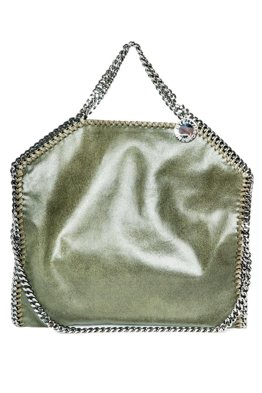 Классическая сумка оливкового цвета