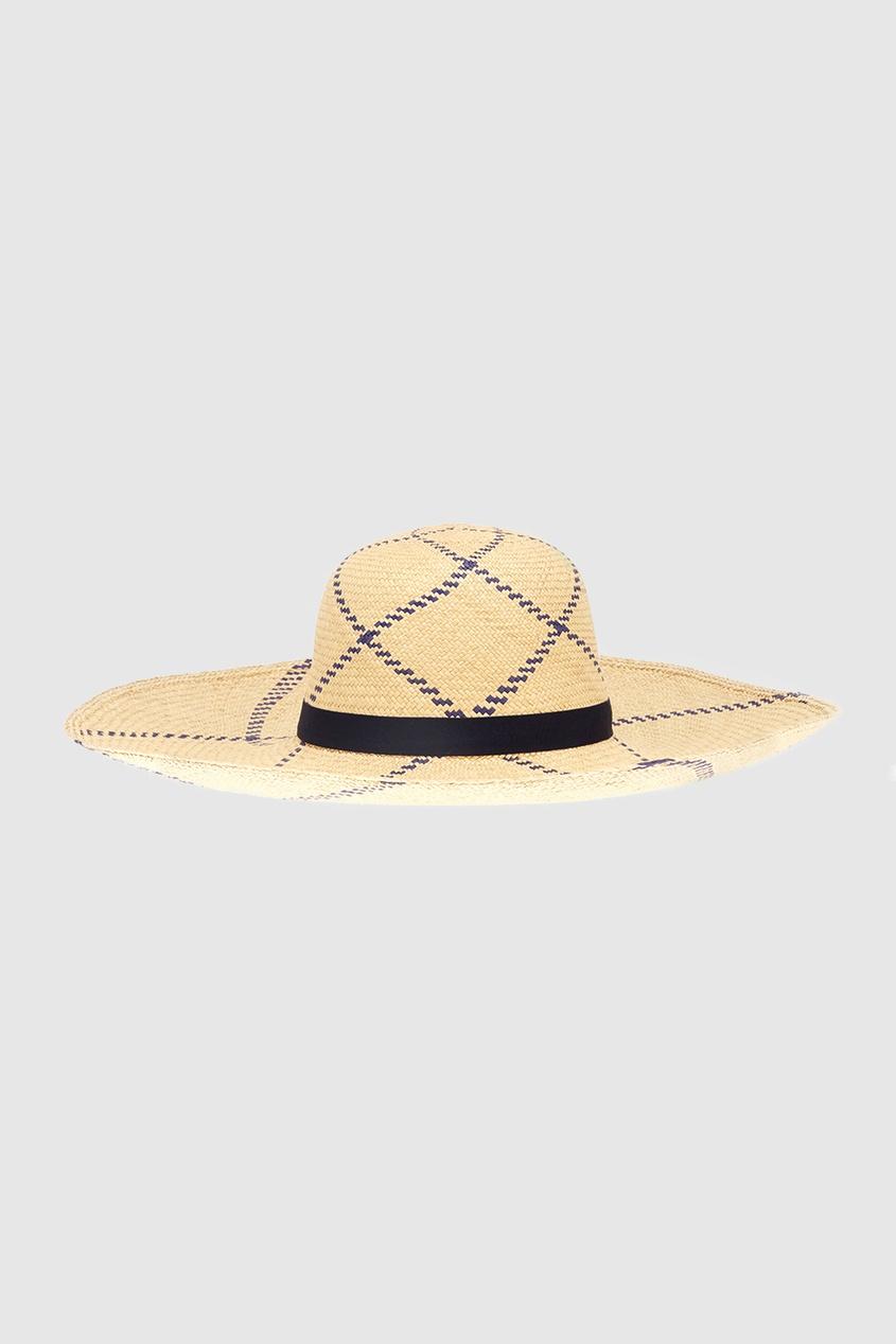 Соломенная шляпа Playa Natural Blue Lotus