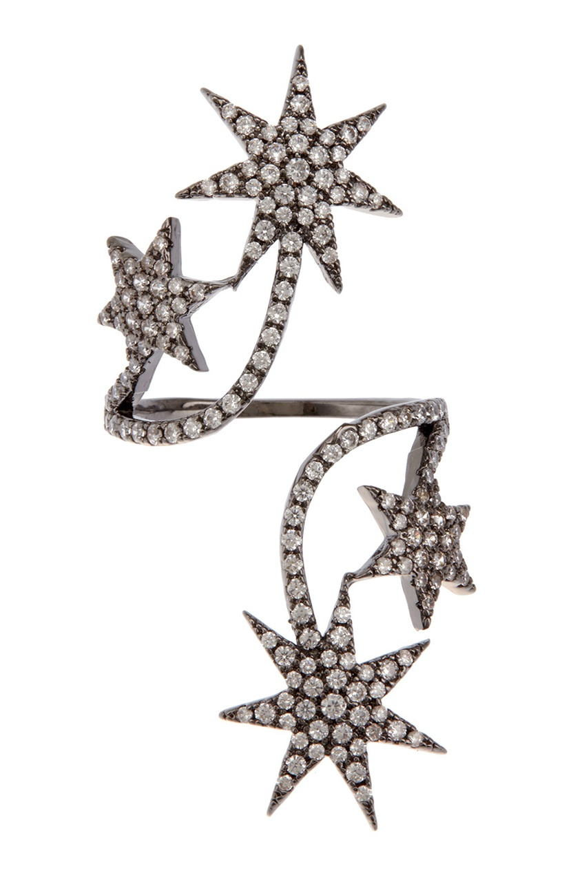 Herald Percy Кольцо с кристаллами серьги herald percy асимметричные серьги цветочной формы