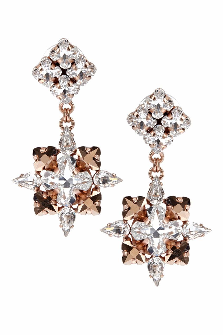 Фото - Серьги с кристаллами от Ellen Conde серебрянного цвета