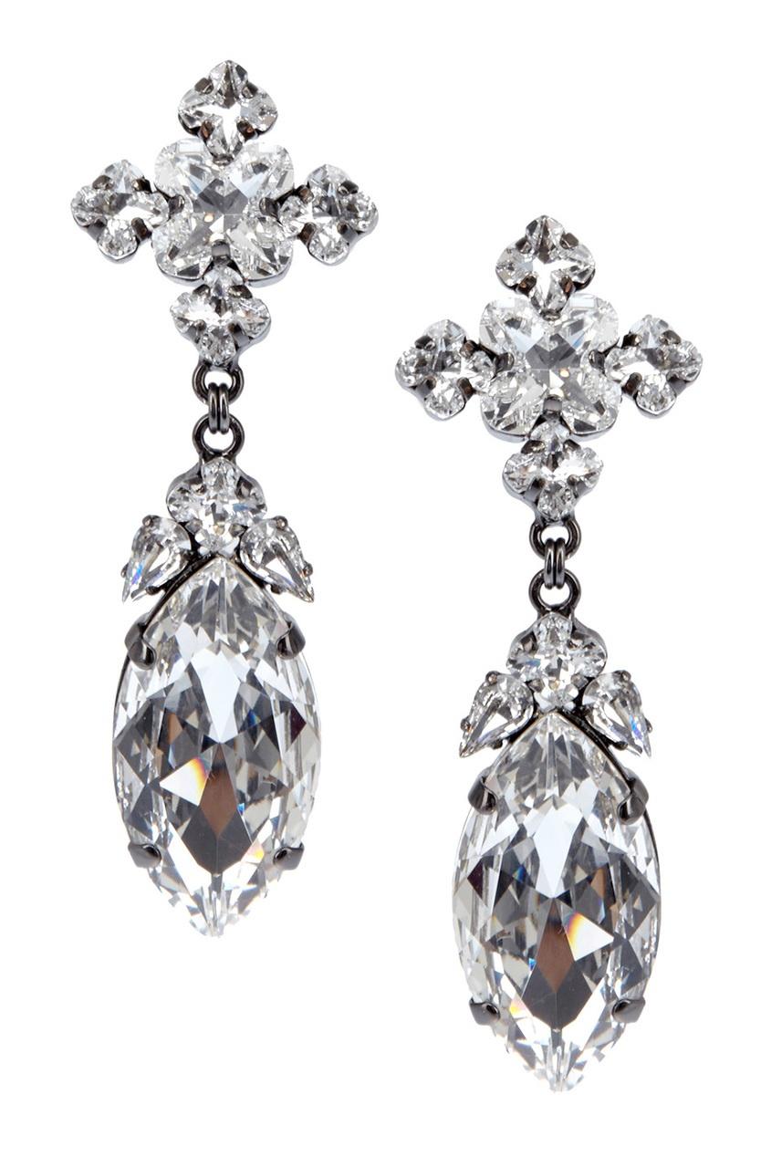 Ellen Conde Серьги с кристаллами