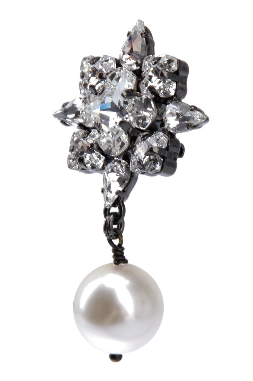 Фото 2 - Серьги с кристаллами от Ellen Conde серебрянного цвета