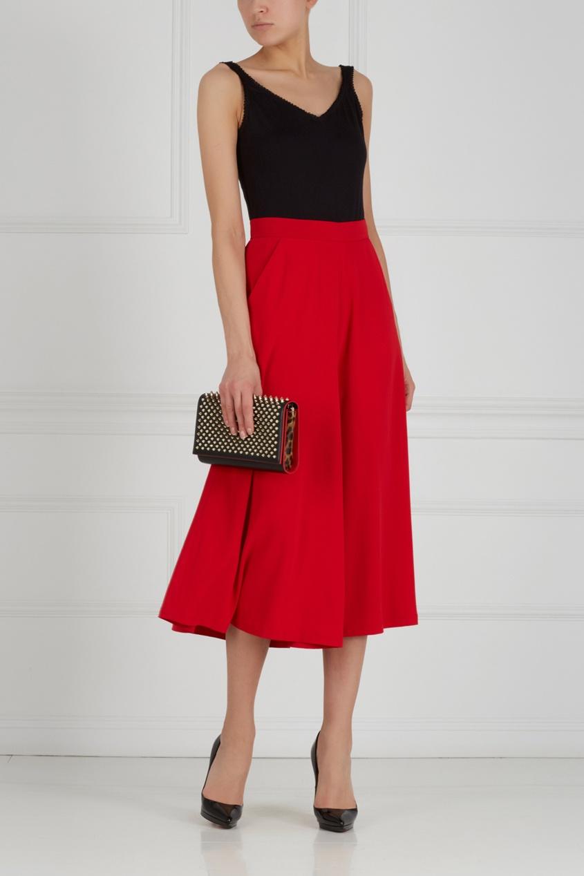 Однотонная юбка-брюки