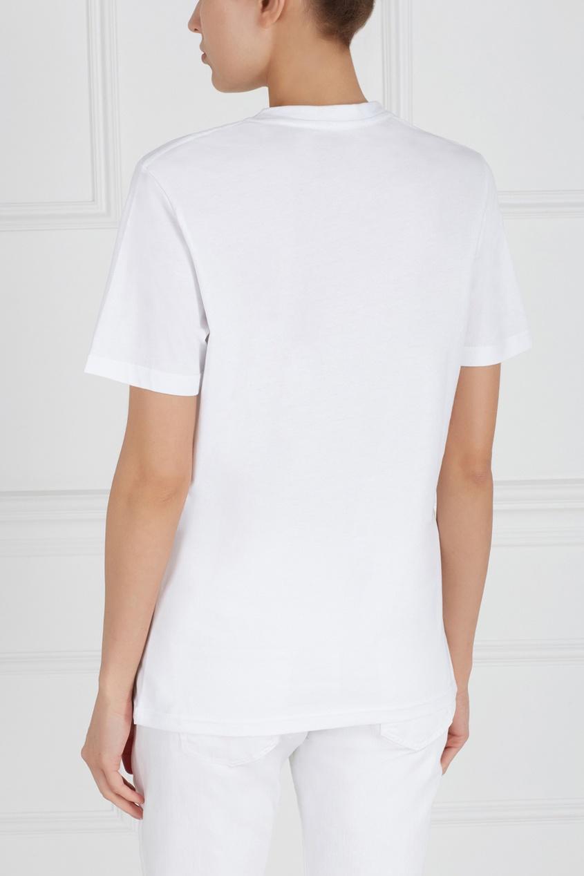 Фото 4 - Хлопковая футболка от ANYAVANYA белого цвета