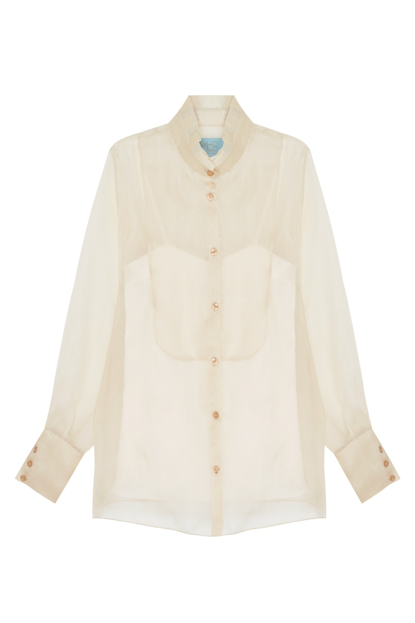 Полупрозрачная блузка