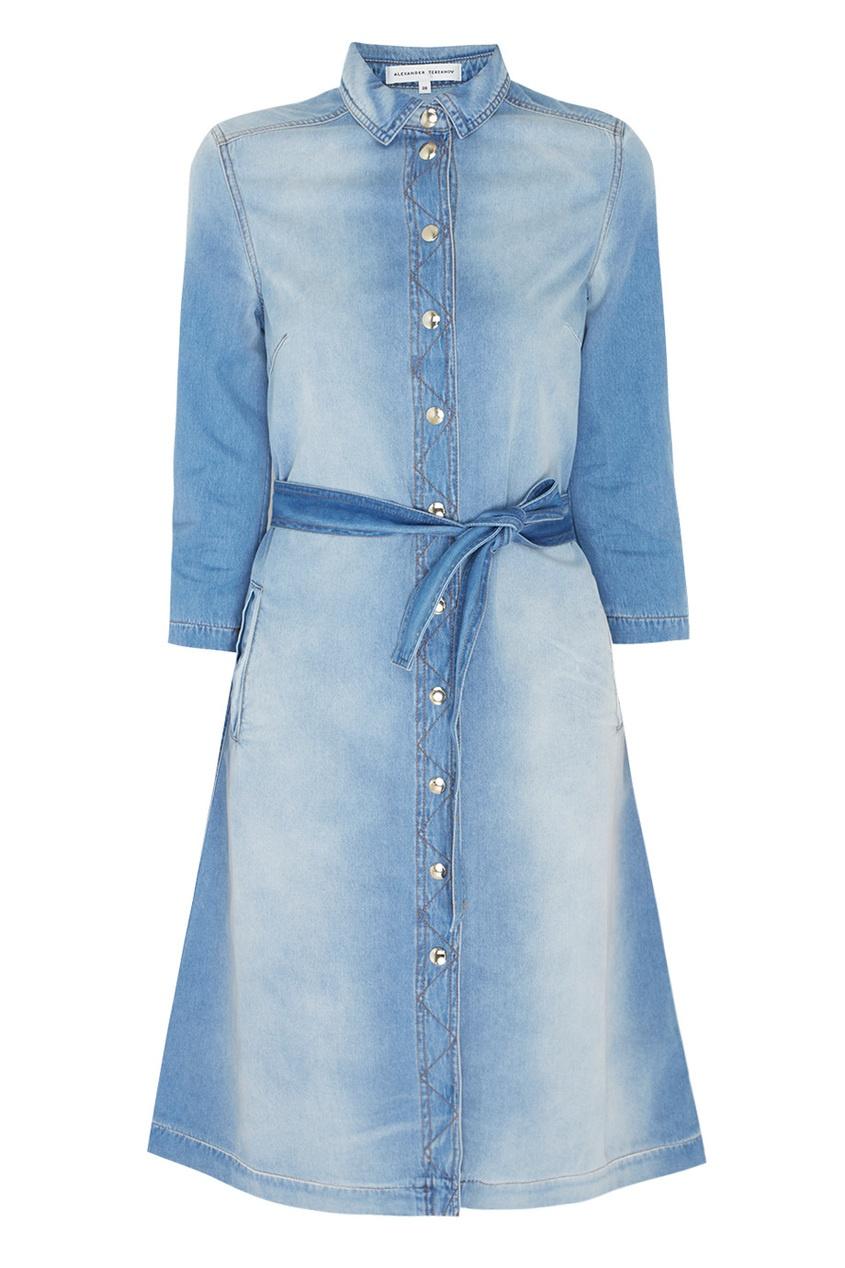 Платье-рубашка из денима