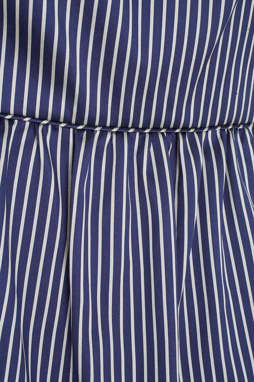 Фото 2 - Платье в полоску от Alexander Terekhov синего цвета