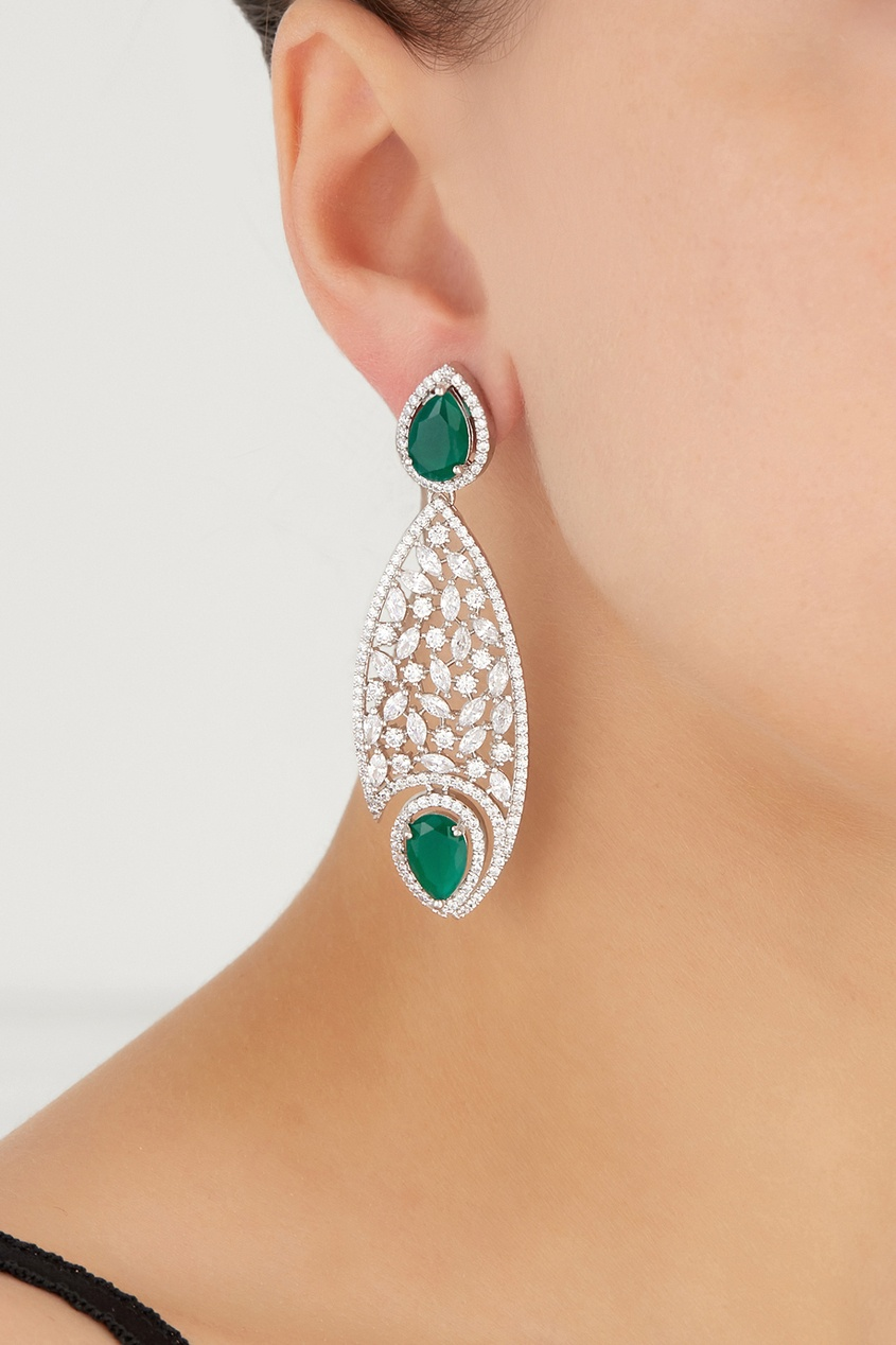 Серьги с цирконами Drop Earrings