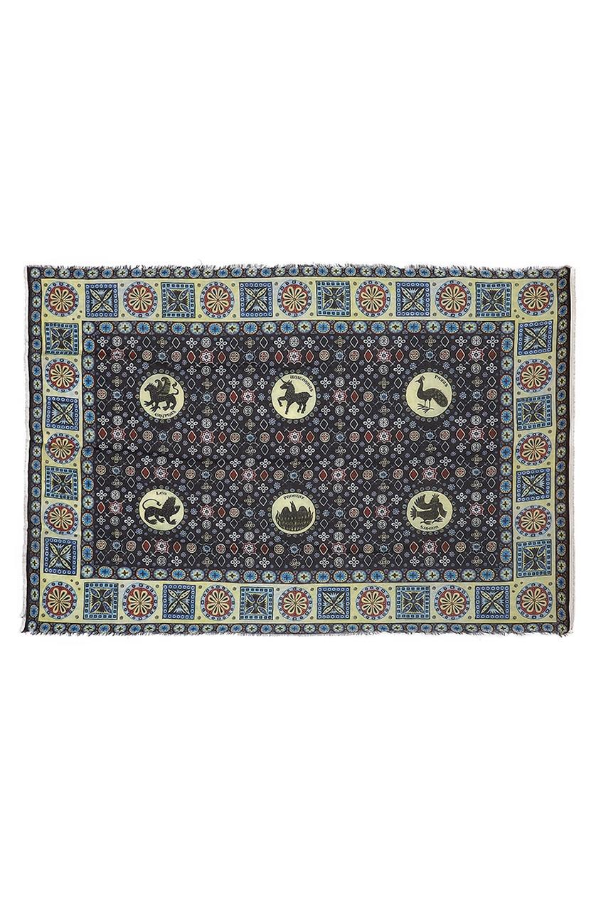 Кашемировая шаль «Византийский бестиарий»