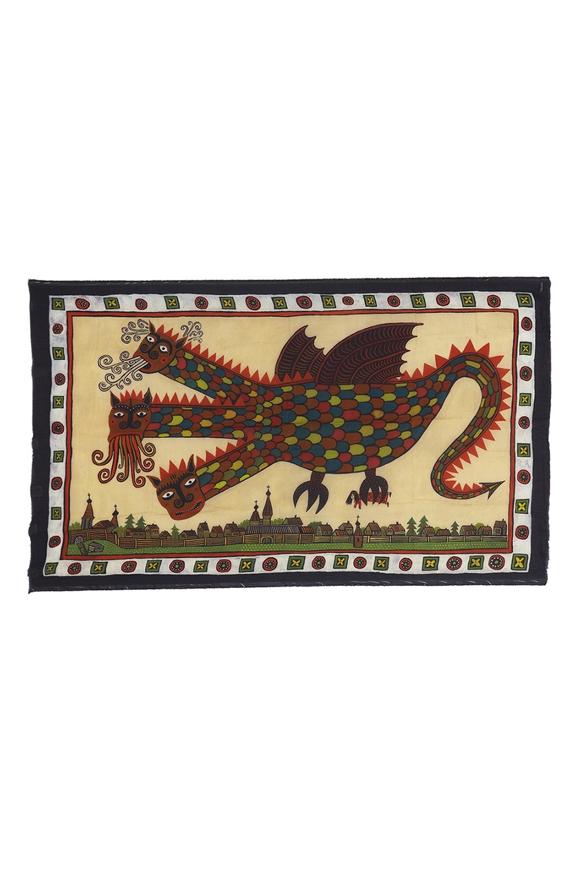 Кашемировая шаль «Змей Горыныч»