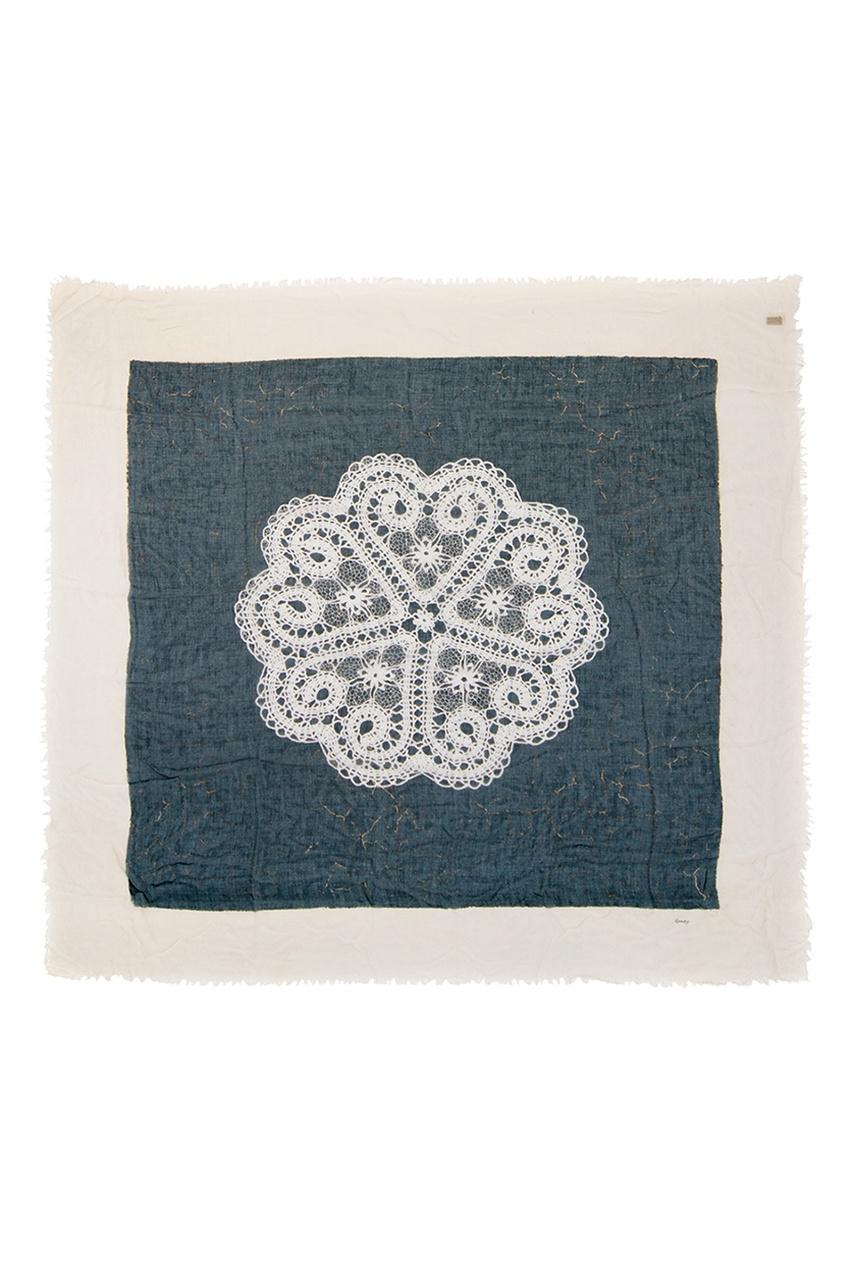 Кашемировый платок «Кружево в квадрате» от AIZEL