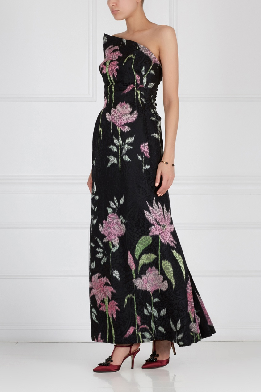 Платье с открытым декольте PAULINE TRIGERE (70-е)