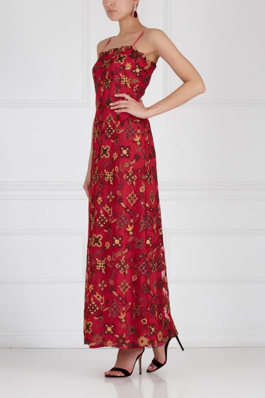 Платье с вышивкой CHRISTIAN LACROIX (80-е)