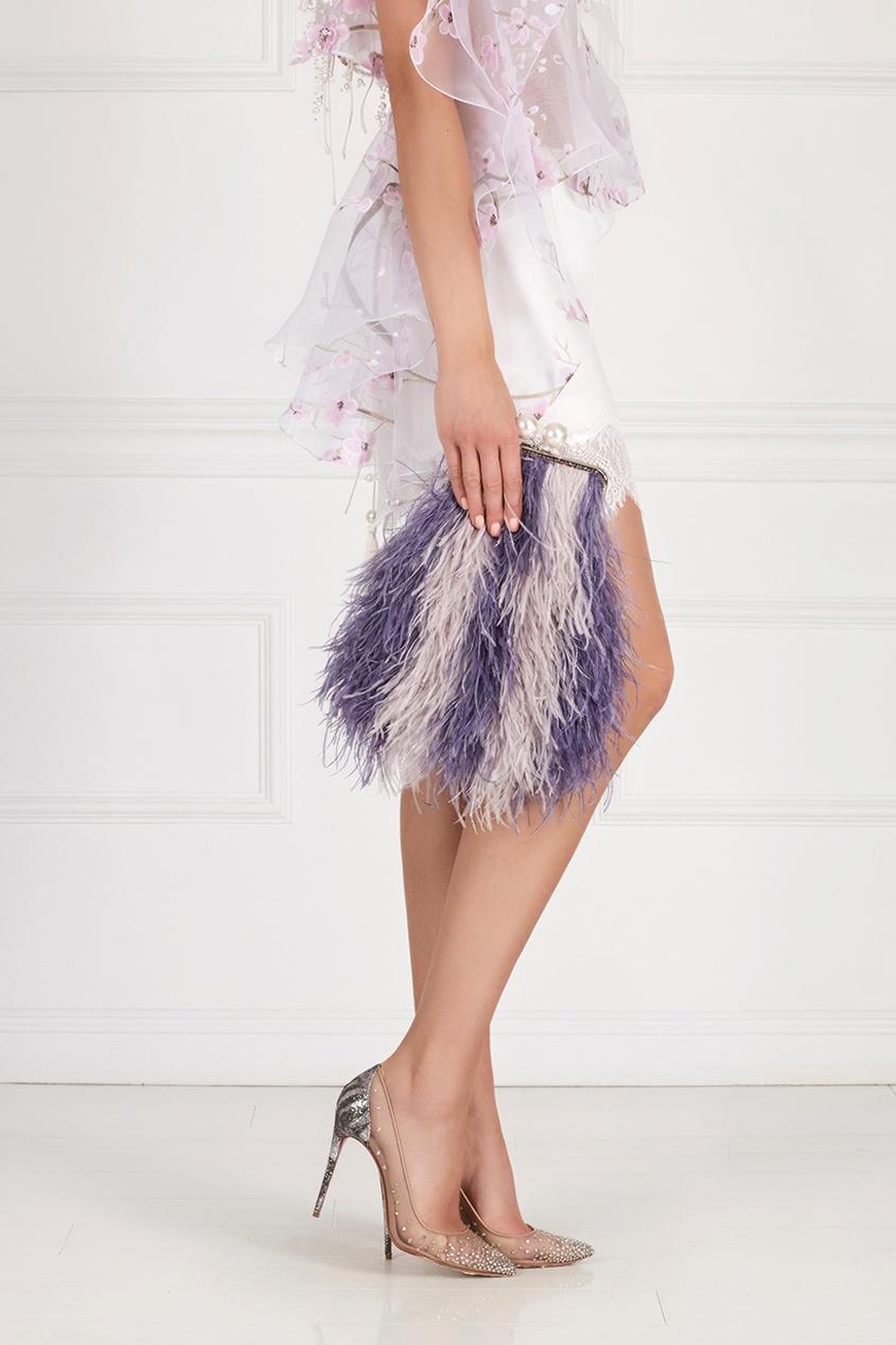 Клатч-ридикюль из перьев марабу Iris