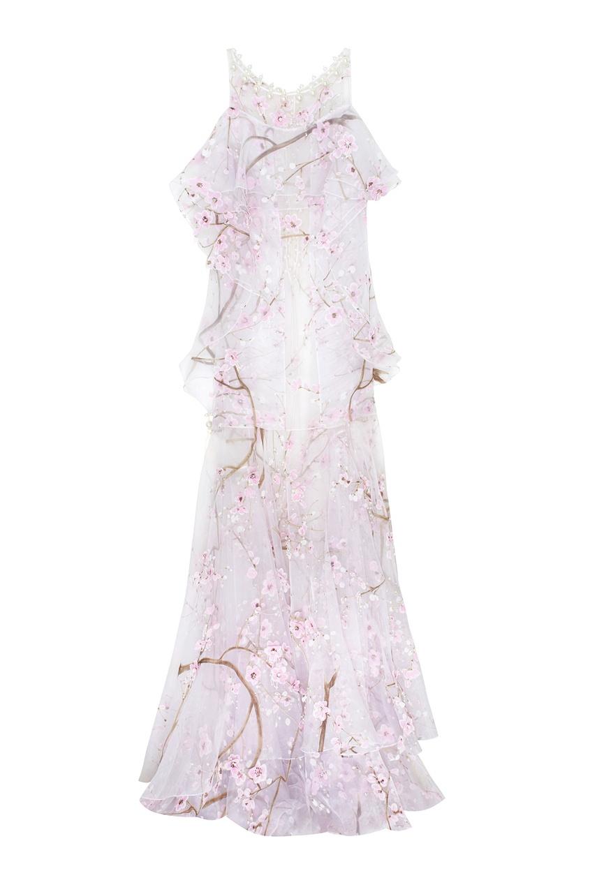 Полупрозрачное платье