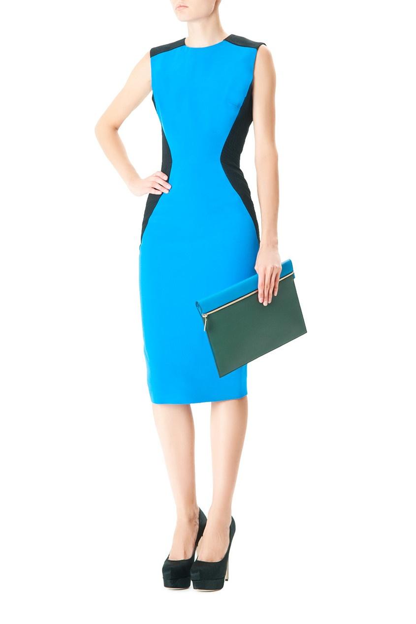 Платье-футляр из шерсти и шелка Платье-футляр из шерсти и шелка 212894