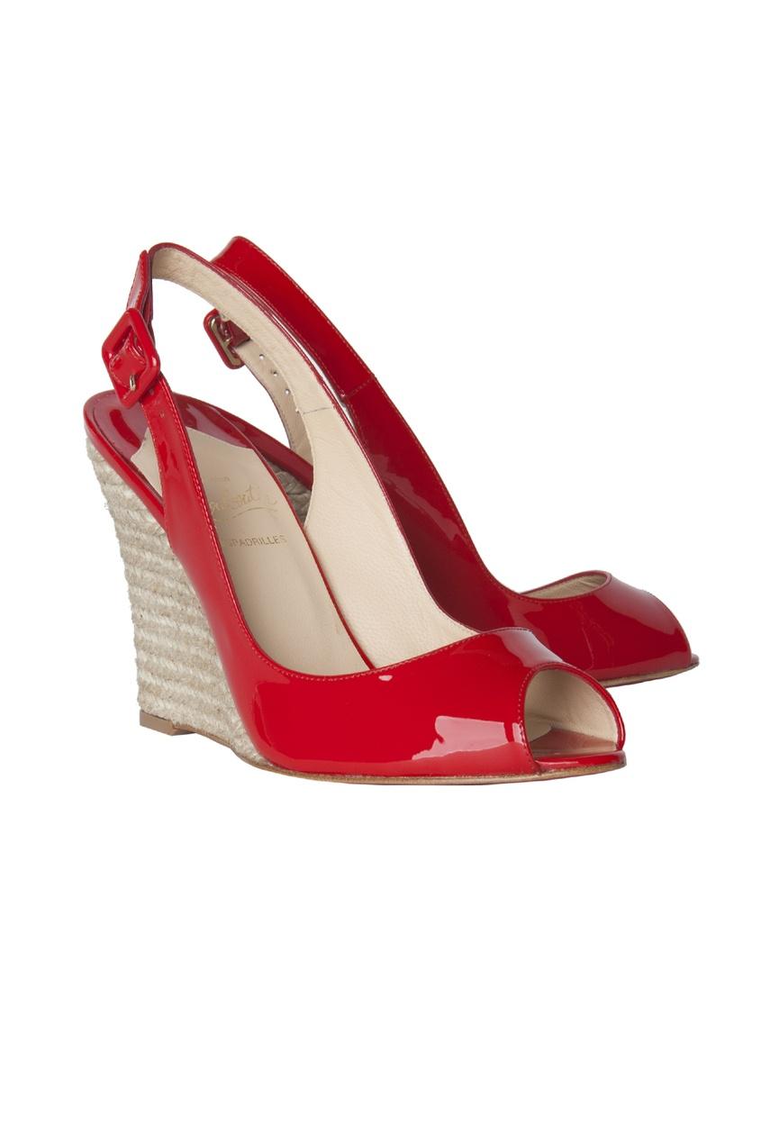 Кожаные туфли Puglia Sling 100 Patent/Rope