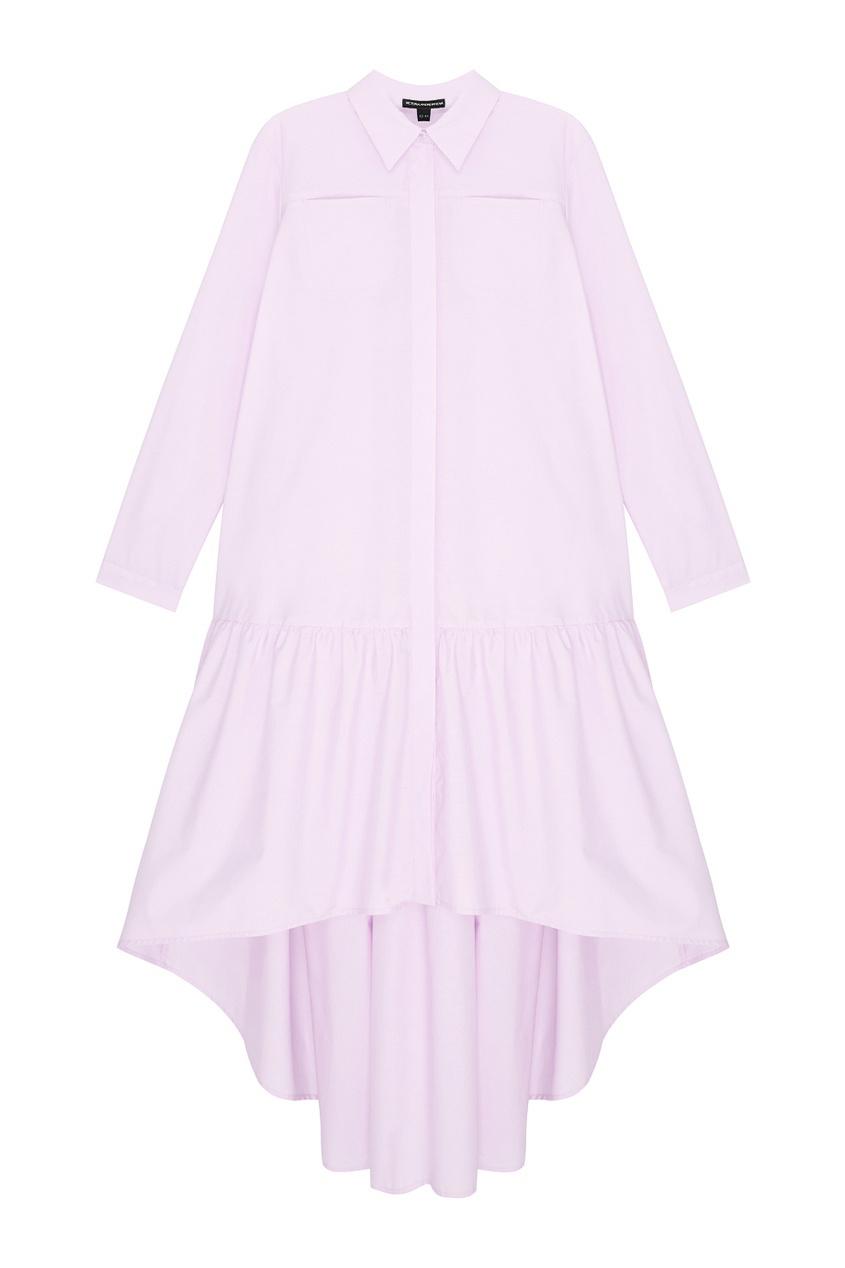 Фото - Хлопковое платье от Victoria Andreyanova розового цвета