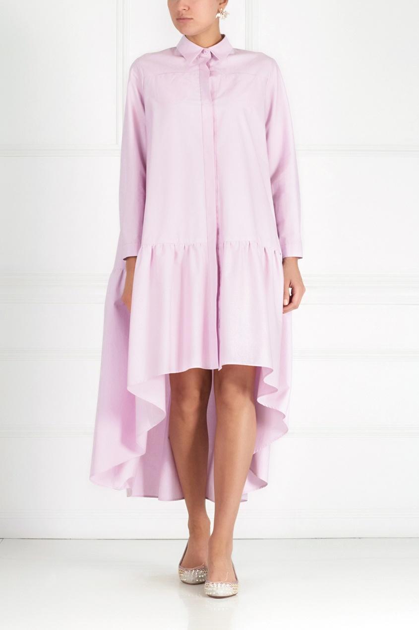 Фото 3 - Хлопковое платье от Victoria Andreyanova розового цвета