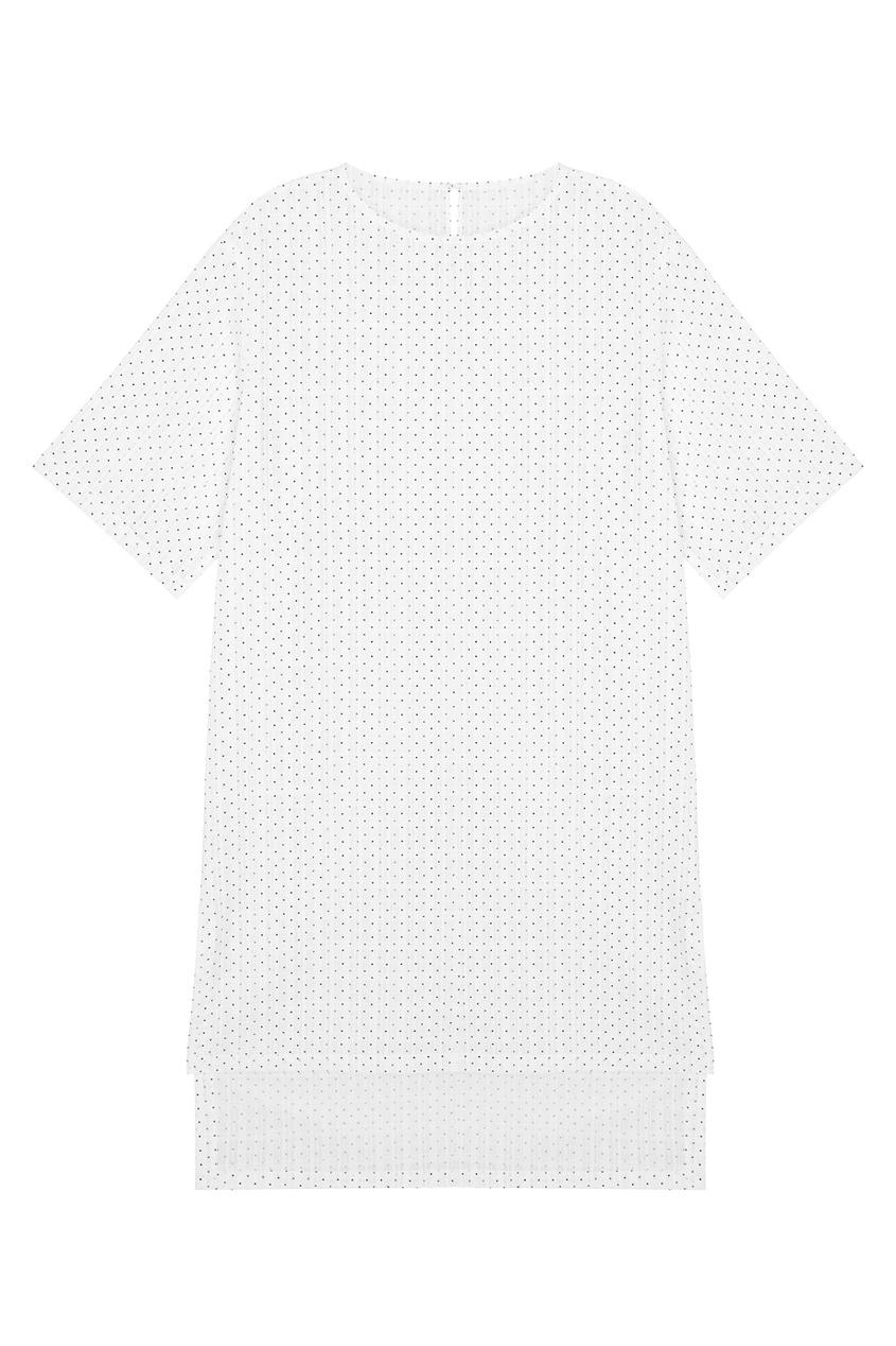 Платье с косынкой в горох