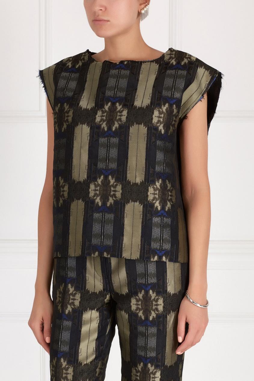 Блузка из хлопка и шелка